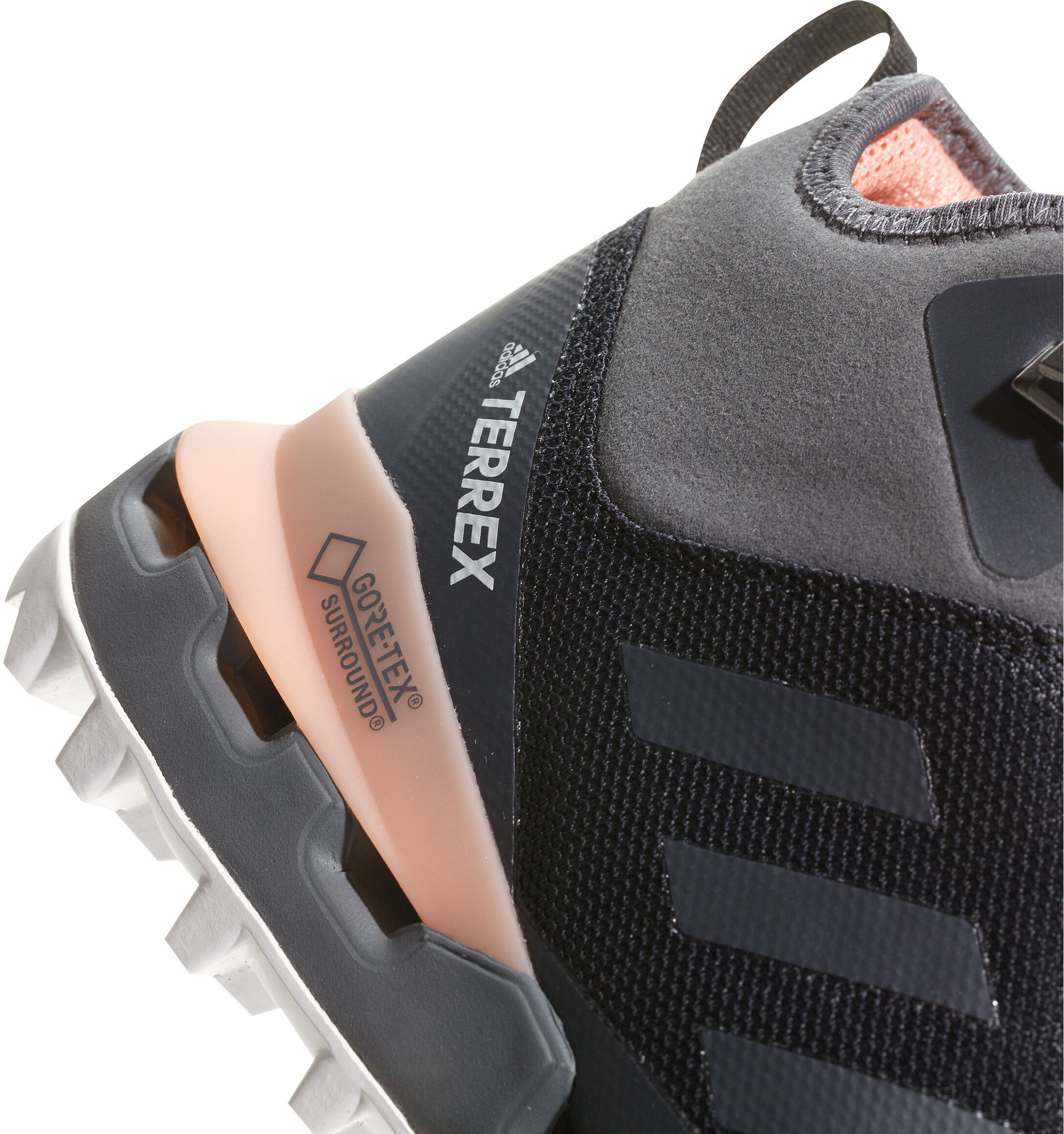 20e0bdf07c44 adidas TERREX Fast Mid GTX Shoes Women grey orange at Addnature.co.uk